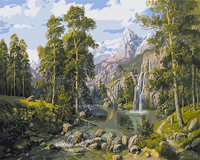 """РН GX9486 """"Небольшой водопад в тайге"""", 40х50 см"""