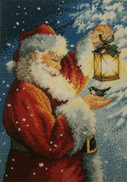 "АРМ CF085 ""Санта Клаус с фонарем"", 20х30 см"