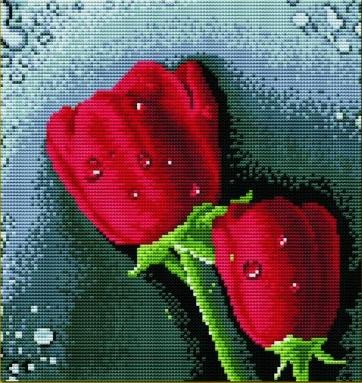 "АРМ DF019 ""Красные розы"", 30х30 см"
