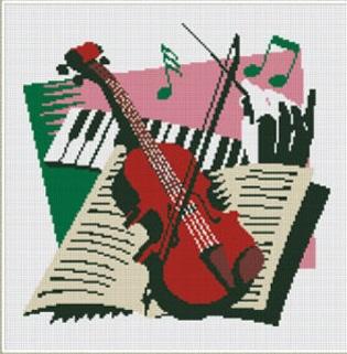 "АРМ DF029 ""Скрипка"", 30х30 см"