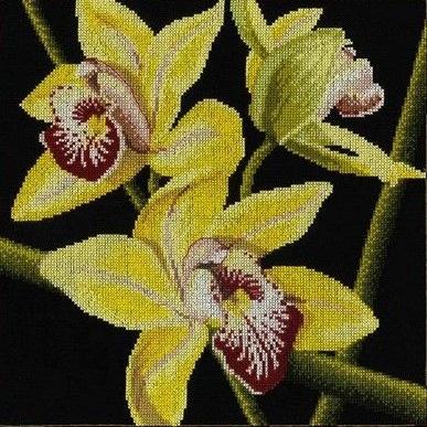"АРМ FZ061 ""Желтая орхидея"", 40х40 см"