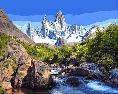 """РН GХ3118 """"Ручей на фоне белой горы"""", 40х50 см"""