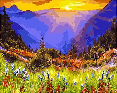 """РН GХ3187 """"Рассвет в альпийских лугах"""", 40х50 см"""