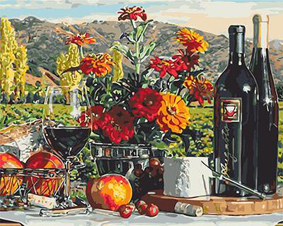 "РН GХ3597 ""Натюрморт с вином"", 40х50 см"
