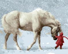 """РН GХ9600 """"Белая лошадь и девочка в красном"""", 40х50 см"""