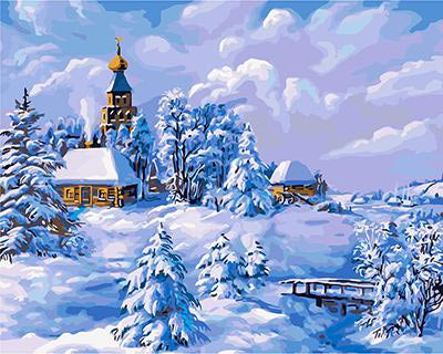 """РН GХ3530 """"Зима в деревне"""", 40х50 см"""