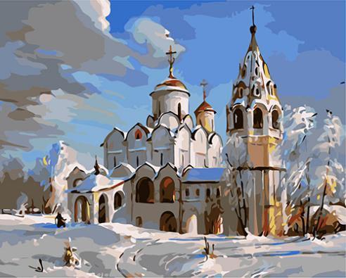 """РН GХ3537 """"Зимняя церковь"""", 40х50 см"""
