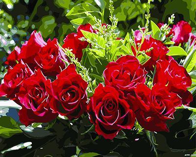 """РН GХ3200 """"Красные розы"""" , 40х50 см"""