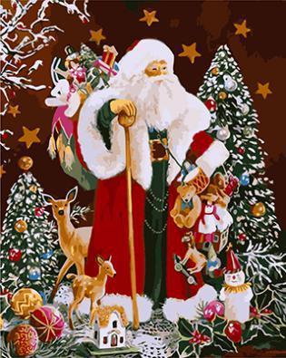 """РН GХ3481 """"Дед Мороз и звери"""", 40х50 см"""