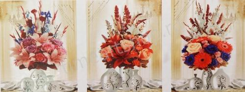 """АМТ N1006 """"Букеты с тремя вазами"""", 40х50х3"""