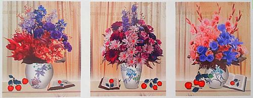"АМТ N1007 ""Цветы, книги, черешня"", 40х50х3"