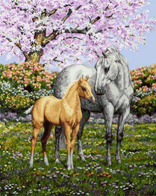 """РН GХ4225 """"Лошадь и жеребенок"""" , 40х50 см"""