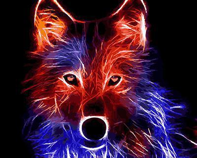 """РН GХ4485 """"Неоновый волк"""" , 40х50 см"""