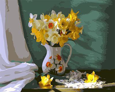 """РН GХ4532 """"Желтые цветы в белом кувшине"""" , 40х50 см"""