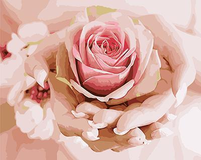 """РН GХ4553 """"Роза в ладонях"""" , 40х50 см"""