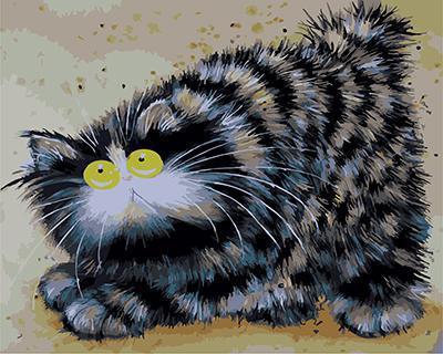 """РН GХ4696 """"Полосатый кот с желтыми глазами"""" , 40х50 см"""
