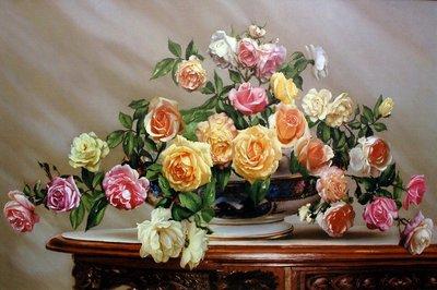 "РН GХ5226 ""Розы на резном столе"", 40х50 см"