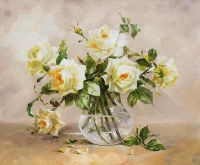 """РН GХ5229 """"Белые розы"""", 40х50 см"""