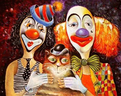 "РН GХ5294 ""Два клоуна и кот"", 40х50 см"