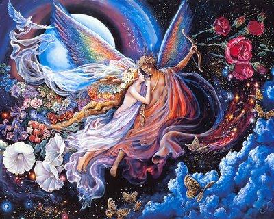 "РН GХ5303 ""Девушка и ангел с луком"", 40х50 см"