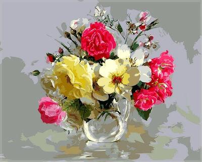 """РН GХ5316 """"Цветы в прозрачном кувшине"""", 40х50 см"""