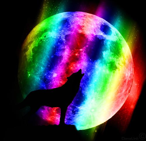 """РН GХ5320 """"Волк на фоне цветной луны"""", 40х50 см"""