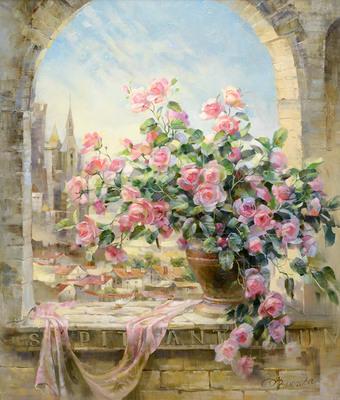 "РН G134 ""Розы на каменном окне"", 40х50 см"