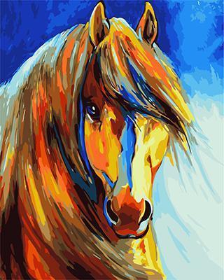 """РН GХ4734 """"Цветная лошадь"""", 40х50 см"""