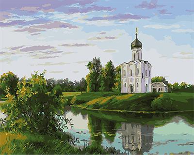 """РН GХ4848 """"Церковь на берегу озера"""", 40х50 см"""