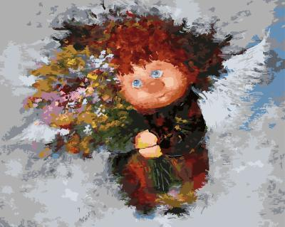 "РН GХ4926 ""Домовенок с букетом цветов"", 40х50 см"
