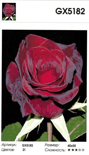 "РН GХ5182 ""Бордовая роза"", 40х50 см"