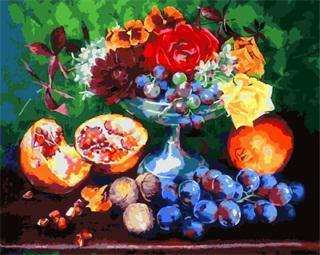 """РН GX5431 """"Гранаты, виноград, розы"""", 40х50 см"""