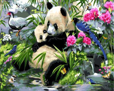 "РН GX5624 ""Панда-мама с малышом"", 40х50 см"