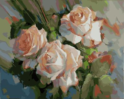 "РН GX21014 ""Три кремовые розы"", 40х50 см"