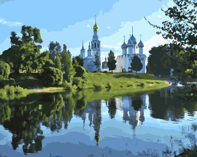 "РН GX21073 ""Софийский собор в Вологде"", 40х50 см"