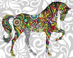"""РН GX21205 """"Цветастый конь"""", 40х50 см"""