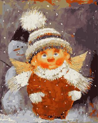 """РН GX21299 """"Домовенок и снеговик"""", 40х50 см"""