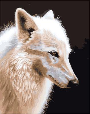 """РН GX21300 """"Белая волчица"""", 40х50 см"""