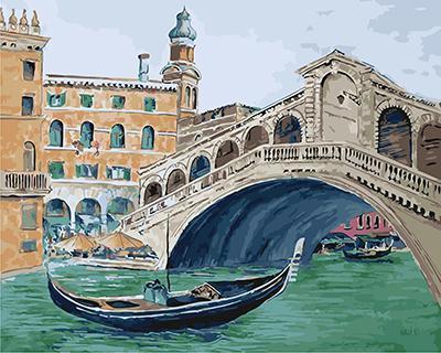 """РН GX21302 """"Гондола под венецианским мостом"""", 40х50 см"""