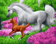 "РН GX21434 ""Жеребенок и белая лошадь"", 40х50 см"