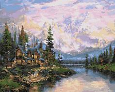 """РН GX5971 """"Старинный дом у подножья гор"""", 40х50 см"""