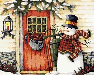 """РН GX6489 """"Снеговик стучится в дверь"""", 40х50 см"""