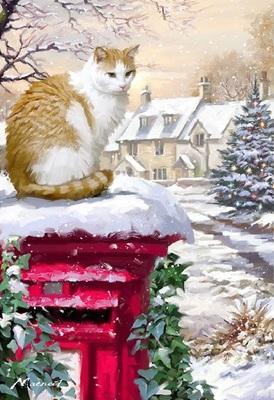 """РН GX4321 """"Кошка на красном столбе"""", 40х50 см"""