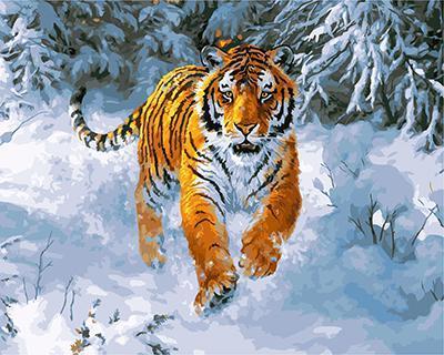 "РН GX21757 ""Тигр бежит по снегу"", 40х50 см"