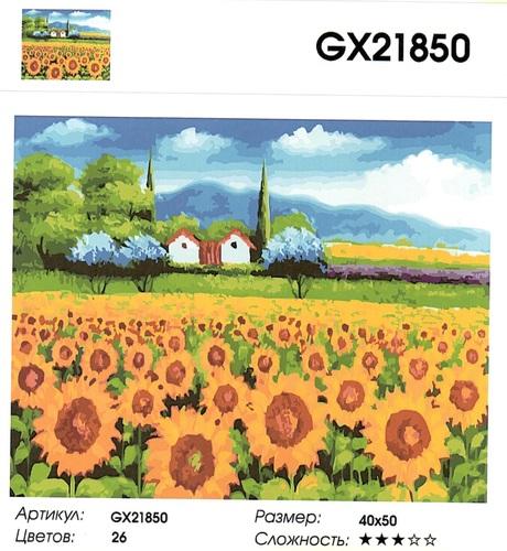 """РН GX21850 """"Поле подсолнухов"""", 40х50 см"""