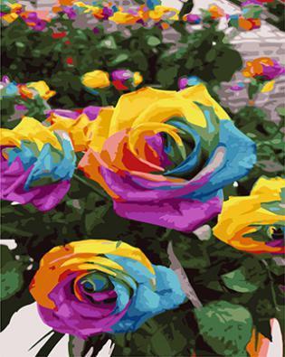 """РН GX21924 """"Разноцветные розы"""", 40х50 см"""