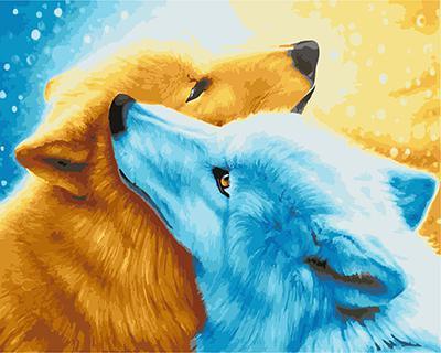 """РН GX21927 """"Голубая и рыжая собаки"""", 40х50 см"""