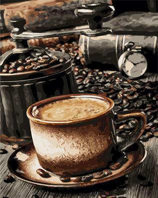 "РН GX22014 ""Мельница и чашка кофе"", 40х50 см"