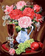 """РН GX22070 """"Розы, фрукты и бокал вина"""", 40х50 см"""