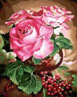 """РН GX22073 """"Три розы и ягоды"""", 40х50 см"""